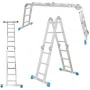 Лестница универсальная алюминиевая 4х3 ступеней, Алюмет