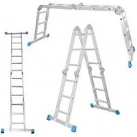 Лестница алюминиевая шарнирная 3х4 ступеней, ТL4033 Алюмет