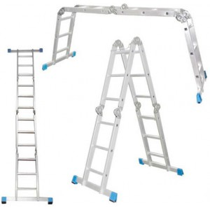 Лестница универсальная алюминиевая 4х4 ступеней, Алюмет
