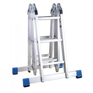 Лестница алюминиевая шарнирная 2х3+2х4 ступеней, ТL4034 Алюмет