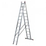 Лестница алюминиевая двухсекционная 2х12 ступеней