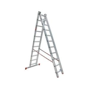 Лестница алюминиевая двухсекционная 2х11 ступеней