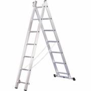 Лестница алюминиевая двухсекционная 2х7 ступеней