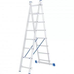 Лестница алюминиевая двухсекционная 2х8 ступеней