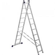 Лестница алюминиевая двухсекционная 2х10 ступеней