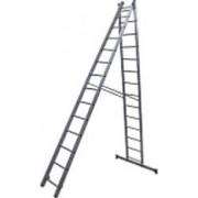 Лестница алюминиевая двухсекционная усиленная 6215 2х15 ступеней