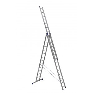 Лестница трехсекционная алюминиевая 6314 3х14 ступеней