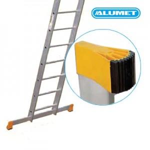 Лестница алюминиевая двухсекционная профессиональная 2х12 ступеней