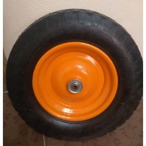 Тачка строительная 110 л. усиленная, пневмо колесо