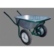 Тачка строительная двухколесная усиленная, литое колесо